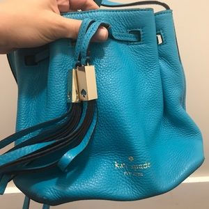 Kate Spade cross body mini bucket bag